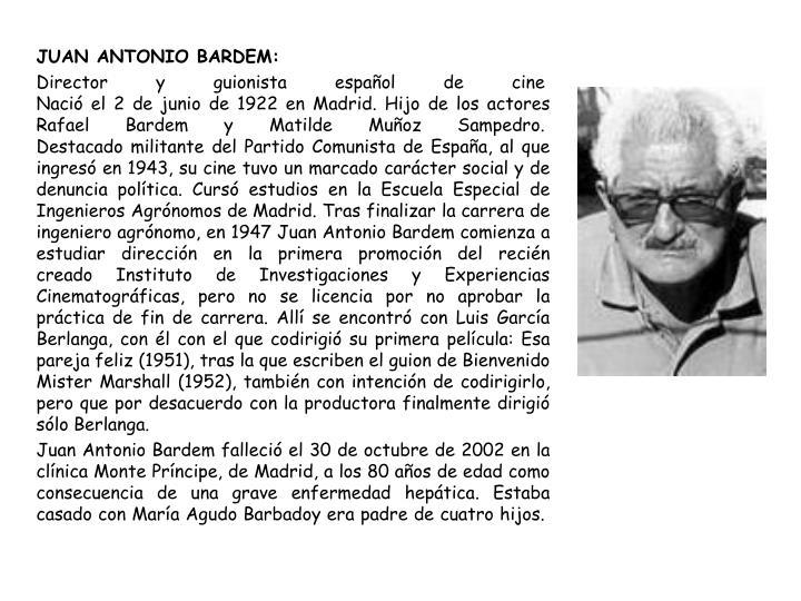 JUAN ANTONIO BARDEM: