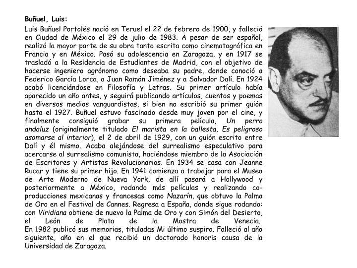 Buñuel, Luis: