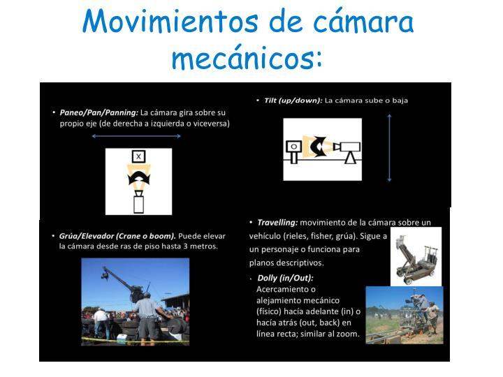 Movimientos de cámara mecánicos: