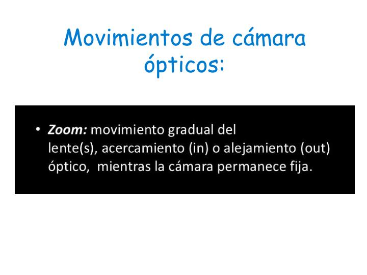 Movimientos de cámara ópticos: