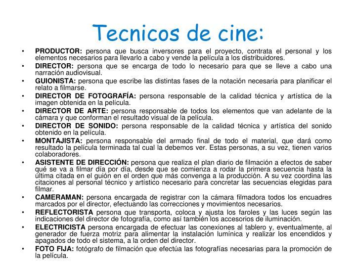 Tecnicos de cine: