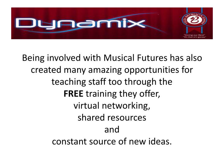 Being involved with Musical Futures has also created many amazing opportunities for teaching staff too through the