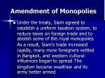 amendment of monopolies