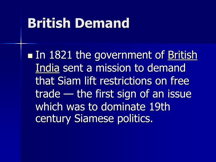 British Demand
