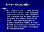 british occupation