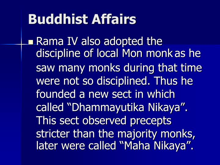 Buddhist Affairs