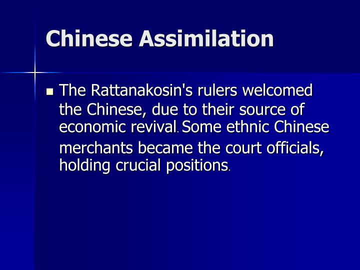 Chinese Assimilation