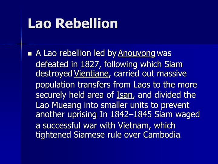 Lao Rebellion