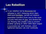 lao rebellion