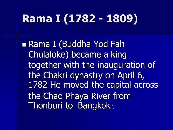 Rama I (1782 - 1809)