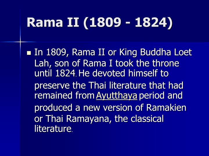 Rama II (1809 - 1824)