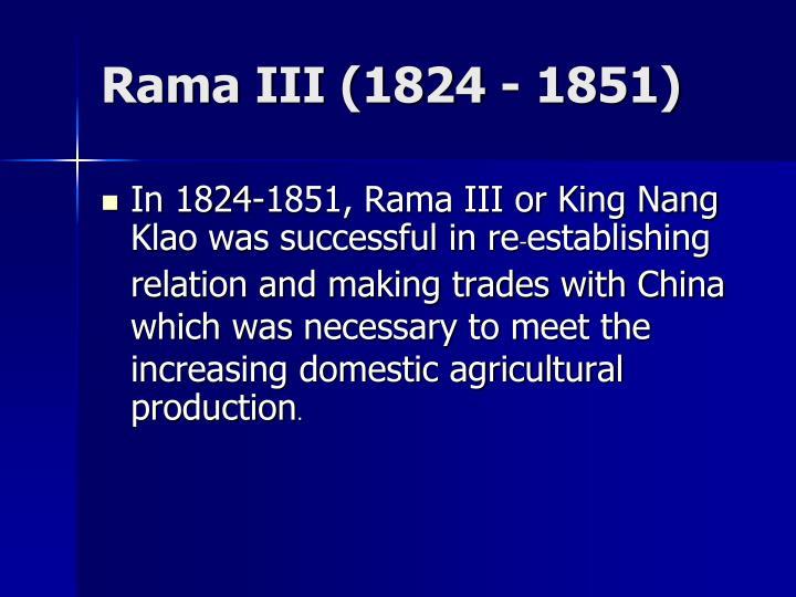 Rama III (1824 - 1851)