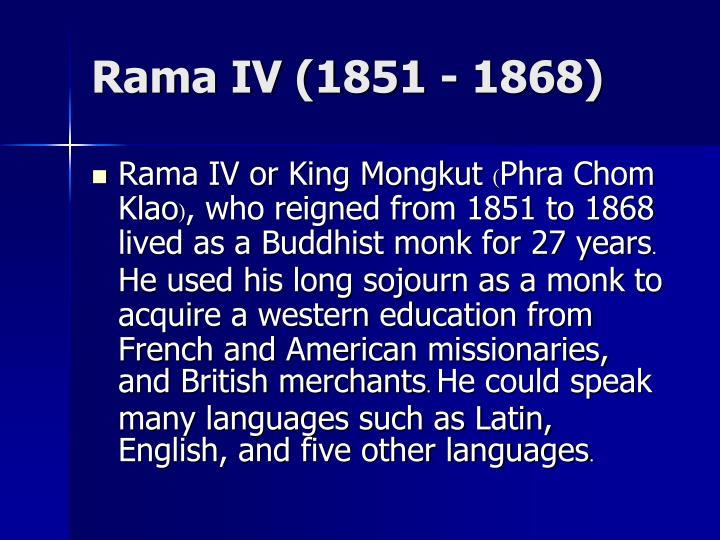 Rama IV (1851 - 1868)