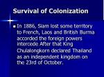 survival of colonization