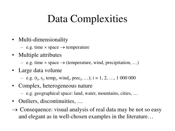 Data Complexities