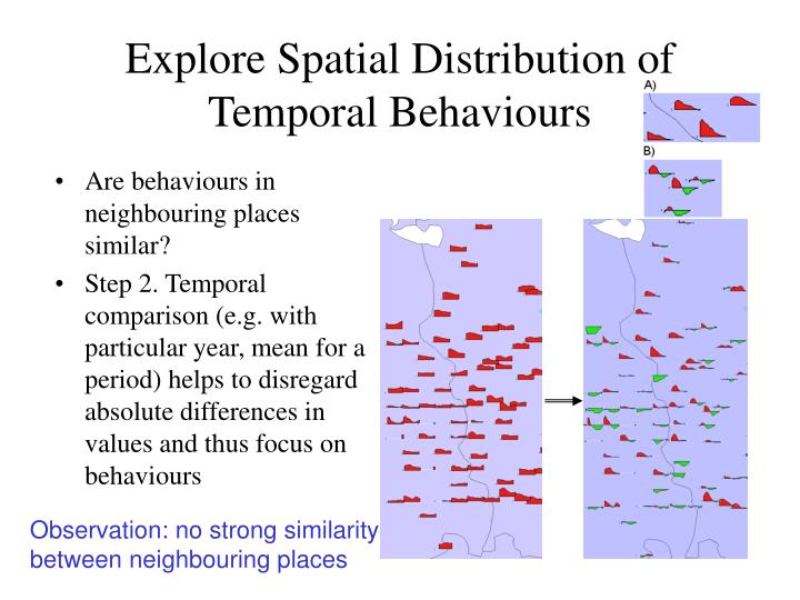 Are behaviours in neighbouring places similar?