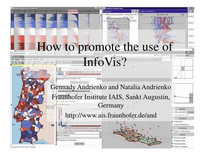 how to promote the use of infovis