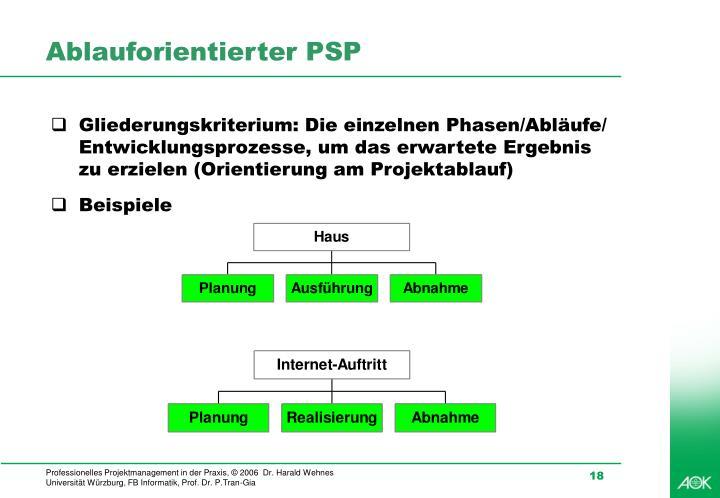 Ablauforientierter PSP