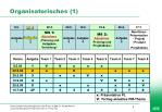 organisatorisches 1