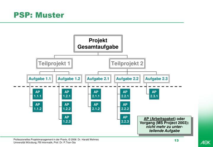 PSP: Muster