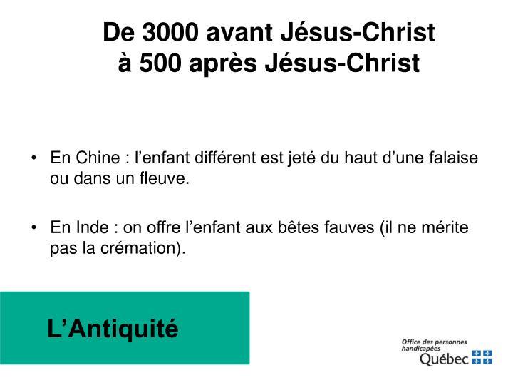 De 3000 avant Jésus-Christ