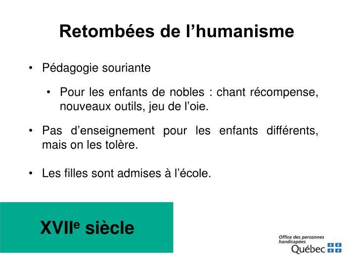 Retombées de l'humanisme