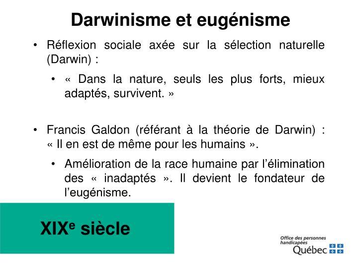 Darwinisme et eugénisme