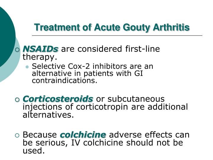 Treatment of Acute Gouty Arthritis