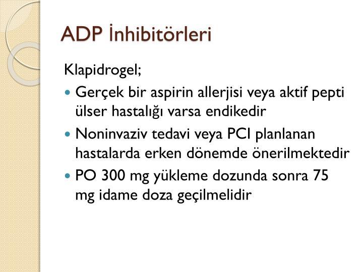 ADP İnhibitörleri