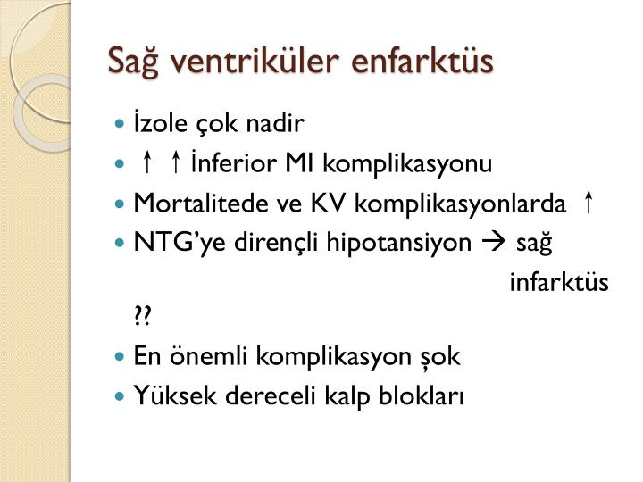 Sağ ventriküler enfarktüs