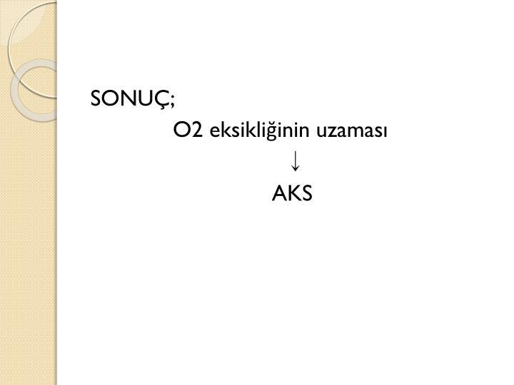 SONUÇ;