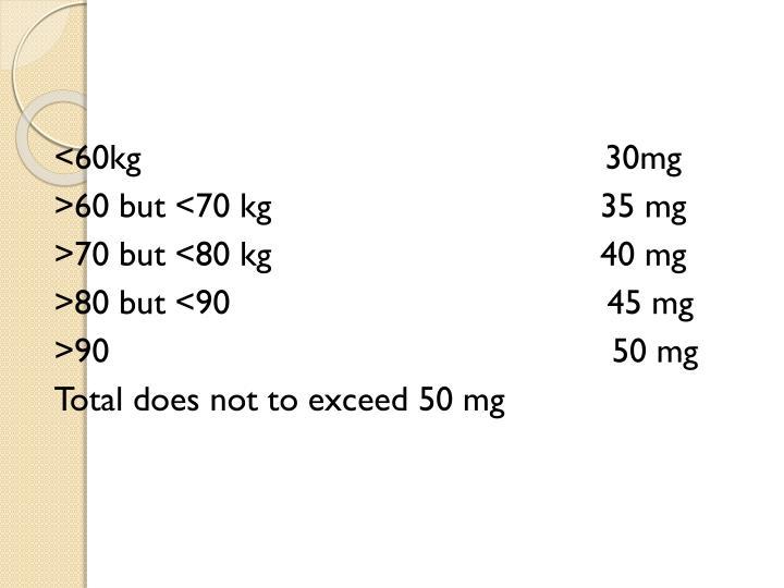 <60kg                                                30mg