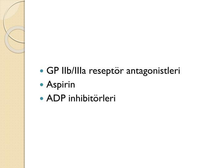 GP IIb/IIIa reseptör antagonistleri