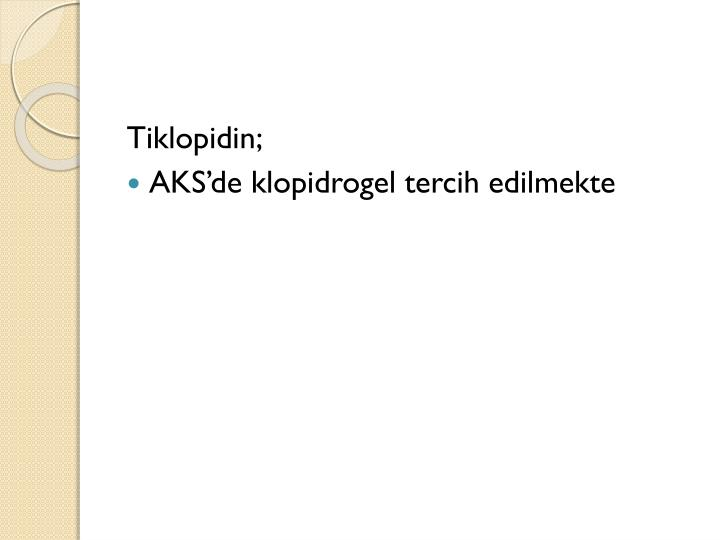 Tiklopidin;