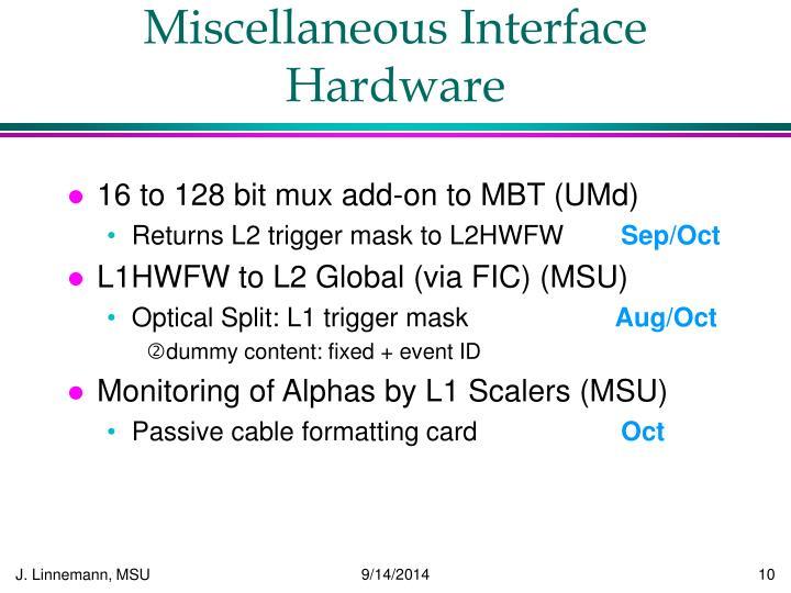 Miscellaneous Interface Hardware