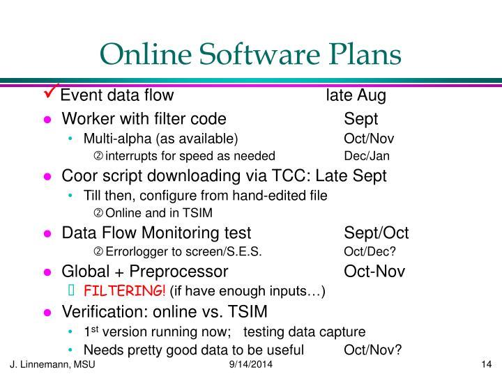 Online Software Plans