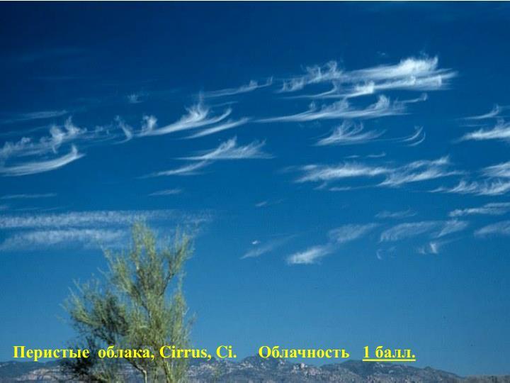 Перистые  облака,
