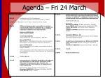agenda fri 24 march