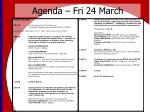 agenda fri 24 march1