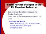 social partner dialogue in the eu chemical industry 1