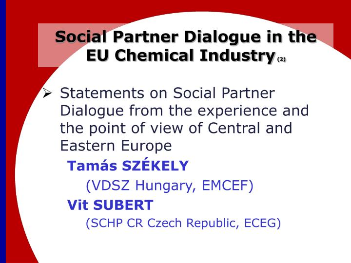 Social Partner Dialogue in the EU Chemical Industry