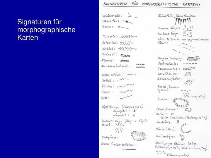 Signaturen für