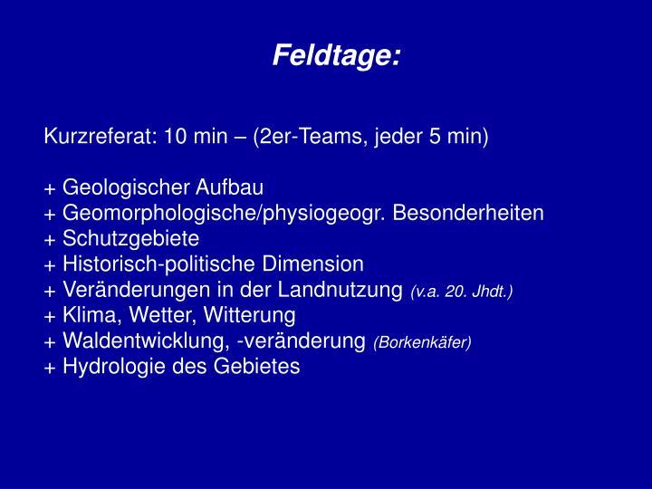 Feldtage: