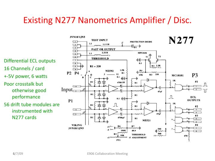 Existing N277 Nanometrics Amplifier / Disc.