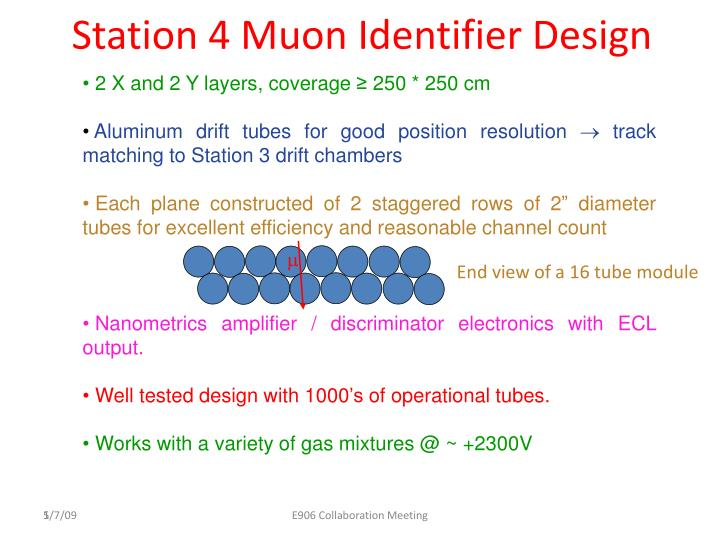 Station 4 Muon Identifier Design