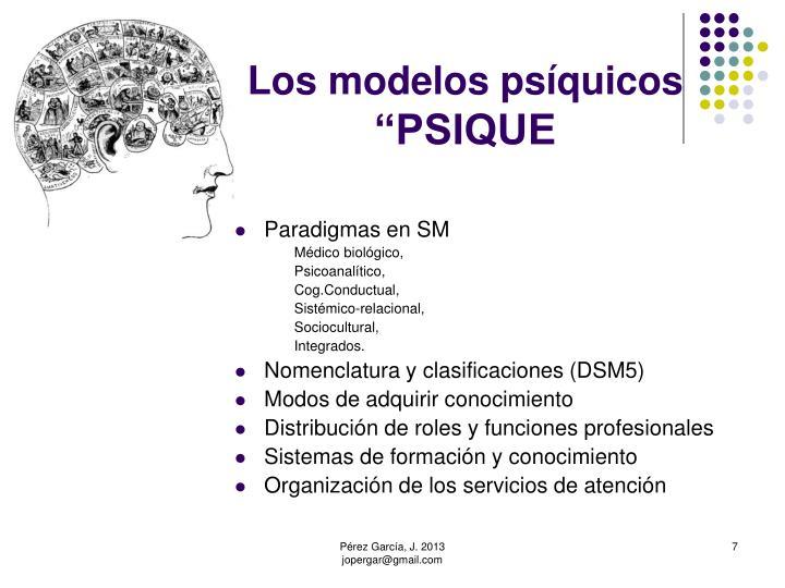 Los modelos psíquicos