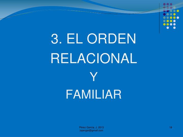 3. EL ORDEN