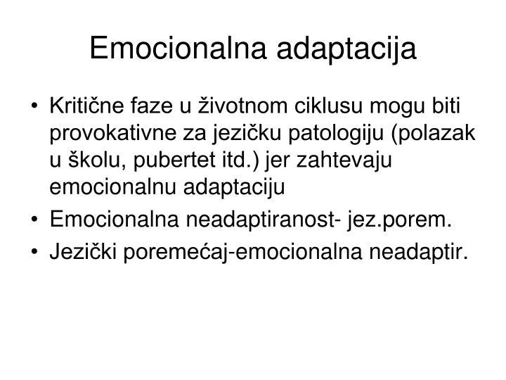 Emocionalna adaptacija