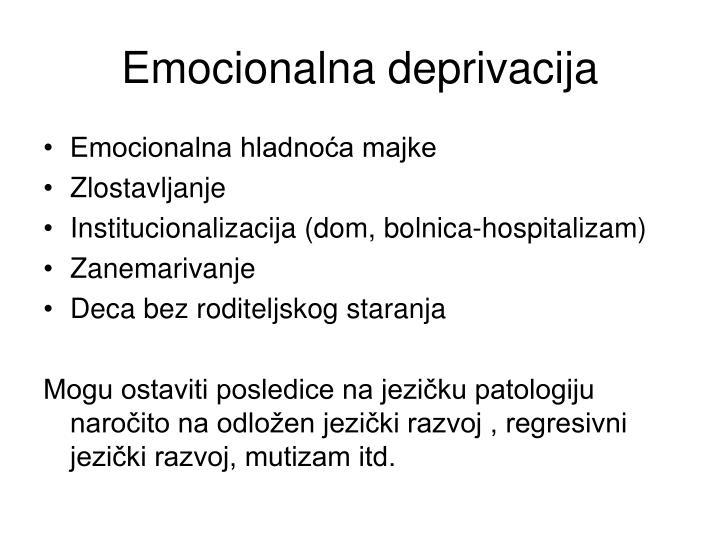Emocionalna deprivacija