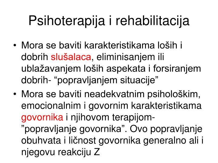 Psihoterapija i rehabilitacija